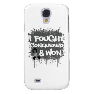 Melanoma I Fought Conquered Won Galaxy S4 Cases