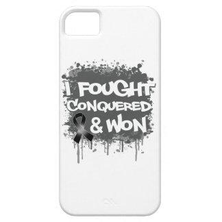 Melanoma  I Fought Conquered Won iPhone 5 Cases