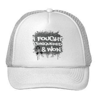 Melanoma  I Fought Conquered Won Hats