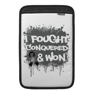 Melanoma  I Fought Conquered Won MacBook Sleeves