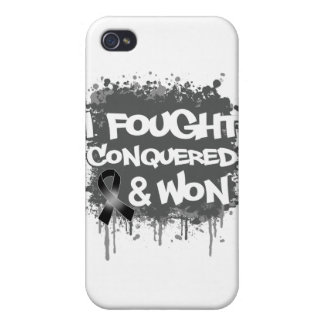 Melanoma I Fought Conquered Won iPhone 4/4S Covers