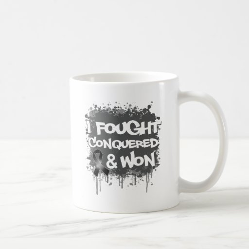 Melanoma  I Fought Conquered Won Mug