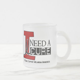 Melanoma I NEED A CURE 1 Frosted Glass Coffee Mug