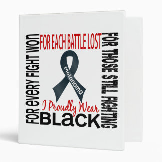Melanoma I Proudly Wear Black 2 3 Ring Binder