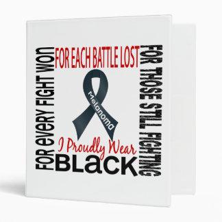Melanoma I Proudly Wear Black 2 Binders