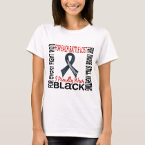 Melanoma I Proudly Wear Black 2 T-Shirt