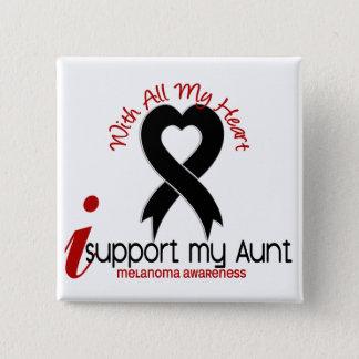 Melanoma I Support My Aunt Pinback Button
