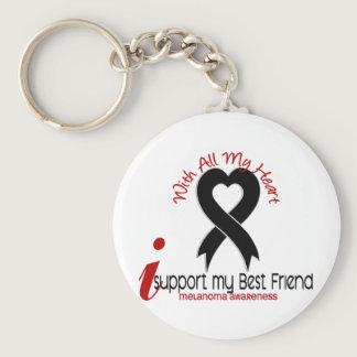 Melanoma I Support My Best Friend Keychain
