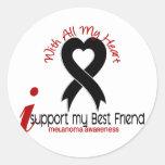 Melanoma I Support My Best Friend Sticker