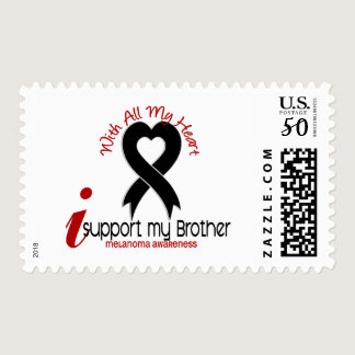 Melanoma I Support My Brother Postage