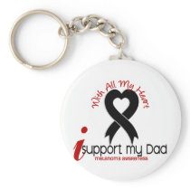 Melanoma I Support My Dad Keychain