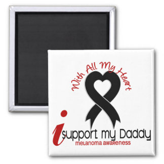 Melanoma I Support My Daddy 2 Inch Square Magnet