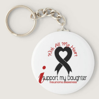 Melanoma I Support My Daughter Keychain