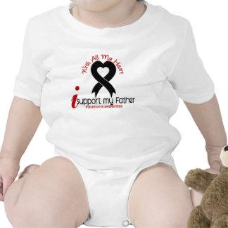 Melanoma I Support My Father Baby Bodysuits
