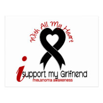 Melanoma I Support My Girlfriend Postcard