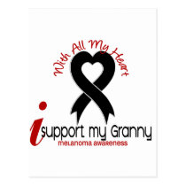 Melanoma I Support My Granny Postcard