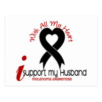 Melanoma I Support My Husband Postcard
