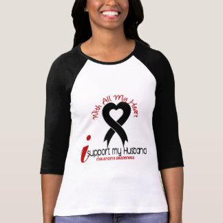 Melanoma I Support My Husband Tee Shirt