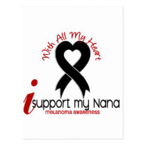 Melanoma I Support My Nana Postcard