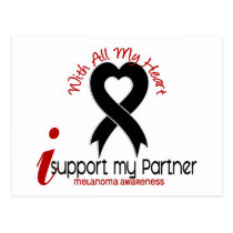 Melanoma I Support My Partner Postcard