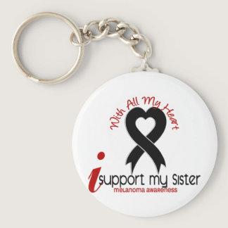 Melanoma I Support My Sister Keychain