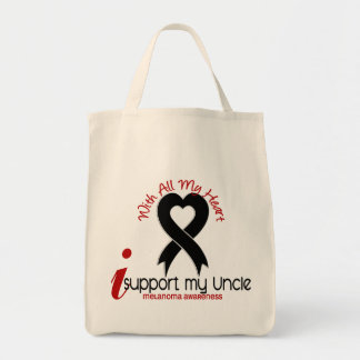 Melanoma I Support My Uncle Tote Bag