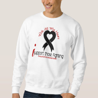 Melanoma I Support Those Fighting Sweatshirt