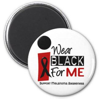 Melanoma I Wear Black For Me 9 2 Inch Round Magnet