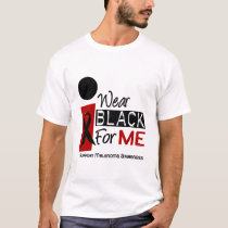Melanoma I Wear Black For Me 9 T-Shirt