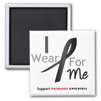 Melanoma I Wear Black For Me Refrigerator Magnet