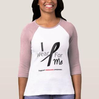 Melanoma I Wear Black For Me Tshirts