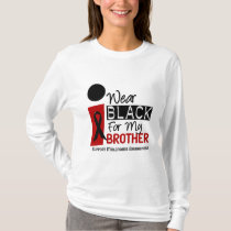 Melanoma I Wear Black For My Brother 9 T-Shirt