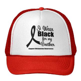 Melanoma I Wear Black For My Brother Trucker Hats