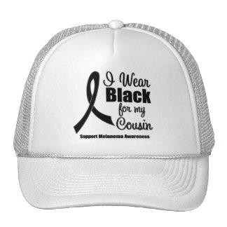 Melanoma I Wear Black For My Cousin Mesh Hat