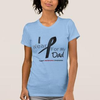 Melanoma I Wear Black For My Dad T-shirts