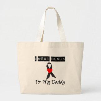 Melanoma I Wear Black For My Daddy Canvas Bags
