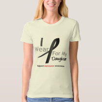Melanoma I Wear Black For My Daughter Tee Shirt