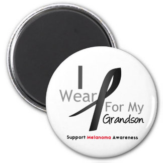 Melanoma I Wear Black For My Grandson Refrigerator Magnet