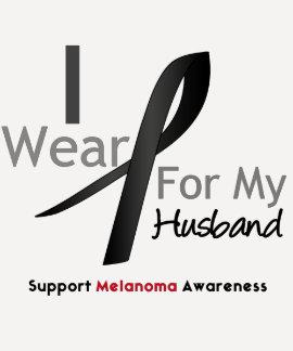 Melanoma I Wear Black For My Husband Tee Shirt