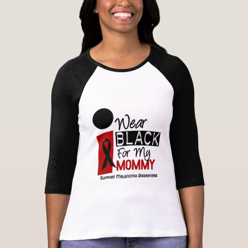 Melanoma I Wear Black For My Mommy 9 Shirt