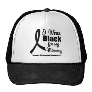 Melanoma I Wear Black For My Mommy Mesh Hat