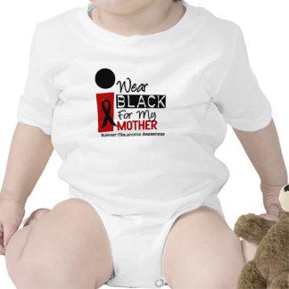 Melanoma I Wear Black For My Mother 9 Baby Bodysuit