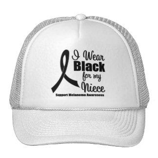 Melanoma I Wear Black For My Niece Mesh Hats