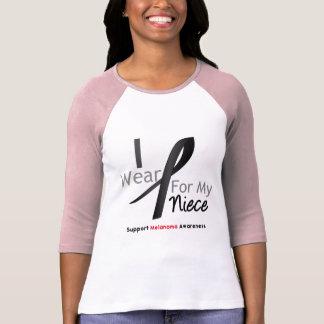 Melanoma I Wear Black For My Niece Tee Shirt