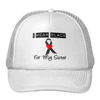 Melanoma I Wear Black For My Sister Trucker Hat
