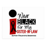 Melanoma I Wear Black For My Sister-In-Law 9 Postcard