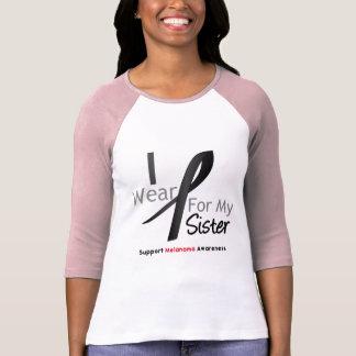Melanoma I Wear Black For My Sister Shirt