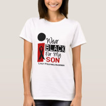 Melanoma I Wear Black For My Son 9 T-Shirt