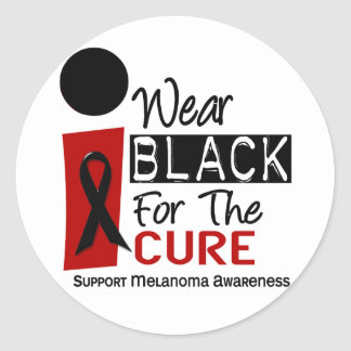 Melanoma I Wear Black For The Cure 9 Classic Round Sticker