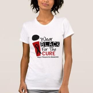 Melanoma I Wear Black For The Cure 9 T-shirt